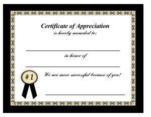 Free Download PDF Books, Parent Appreciation Certificate Template