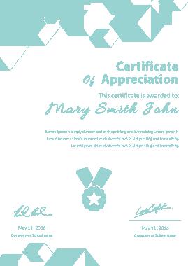 Free Download PDF Books, Portrate Appreciation Certificate Template