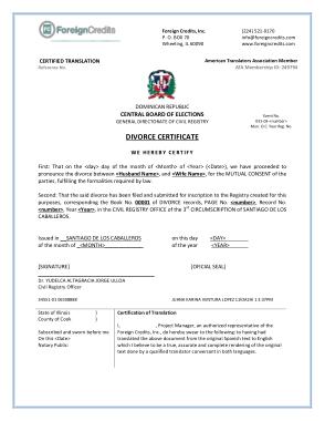 Free Download PDF Books, Sample Divorce Certificate Template