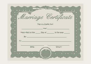 Marriage Certificate PDF Template