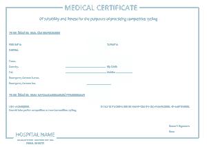 Sample Medical Certificate Form Template