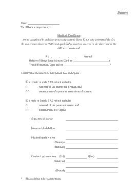 Free Download PDF Books, Sample Medical Certificate Format Template