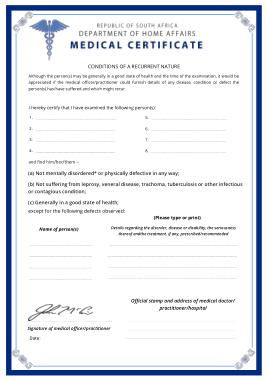 Department Medical Certificate Template