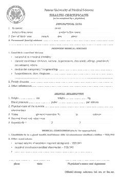 Free Download PDF Books, Medical Helath Certificate Sample Template