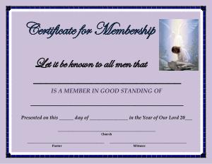 Free Download PDF Books, Blank Membership Certificate Template