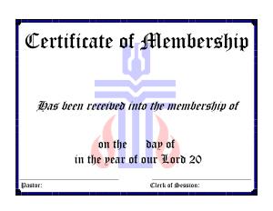 Free Download PDF Books, Sample Membership Certificate Template