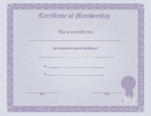 Free Download PDF Books, Simple Membership Certificate Template