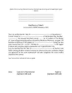 Free Download PDF Books, Simple Merit Certificate Template