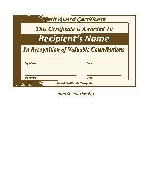 Free Download PDF Books, Valuable Contribution Merit Certificate Template