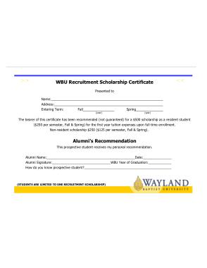 Free Download PDF Books, Recruitment Scholarship Certificate Template