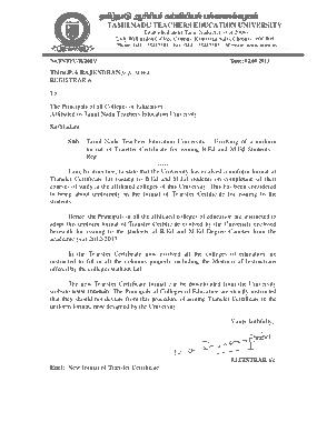 Free Download PDF Books, College Transfer Certificate Template