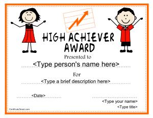 Free Download PDF Books, Elementary School Achievement Certificate Template