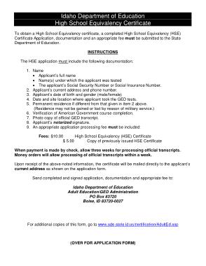 High School Graduation Certificate Application Template