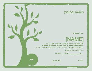 Free Download PDF Books, School Attendance Certificate Template