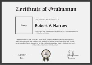 Free Download PDF Books, School Graduation Certificate Template