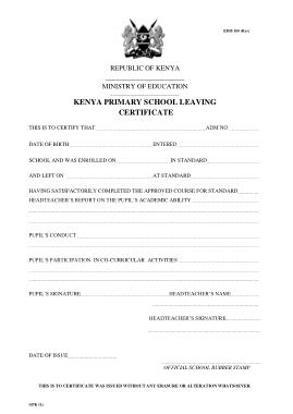 Free Download PDF Books, School Leaving Certificate Template Template