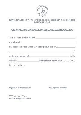 Free Download PDF Books, School Project Certificate Template