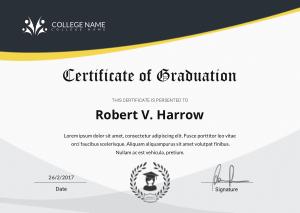 Free Download PDF Books, Universal College Graduation Certificate Template