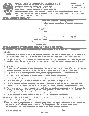 Free Download PDF Books, Public Service Loan Forgiveness Employment Certification Template