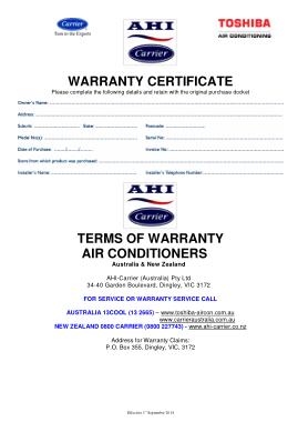 Free Download PDF Books, Service Warranty Certificate Template