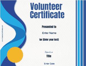 Free Download PDF Books, Best Volunteer Service Award Certificate Template