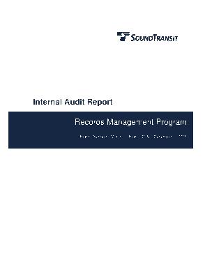 Records Management Program Internal Audit Report Template