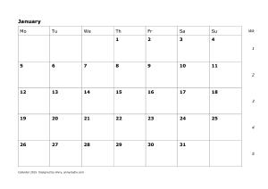 Free Download PDF Books, Calendar 2016 Planner Template
