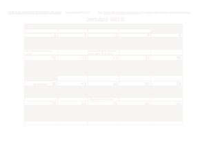 Classroom Monthly Calendar Template