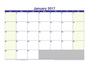 Free Download PDF Books, Free Blank Calendar 2017 Template