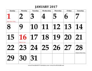 Monthly Calendar Sample Template