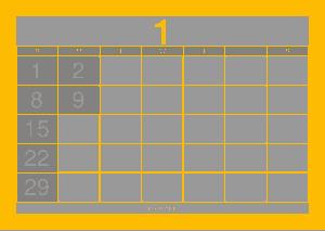 Printable Monthly Digital Calendar Template