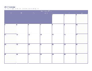 Sample 3 Month Calendar Printable Template