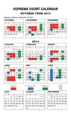 Free Download PDF Books, Supreme Court Month Calendar Template