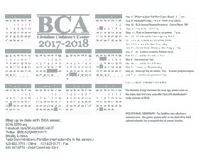 BCA Children Center Yearly Calendar Template