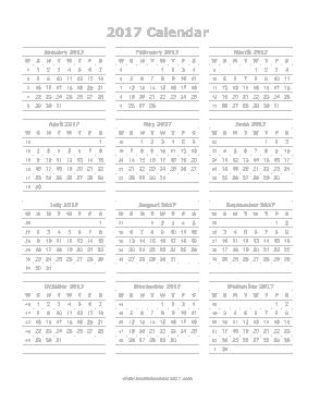 Printable Yearly Calendar Template