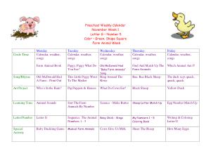 Preschool Weekly Calendar Template