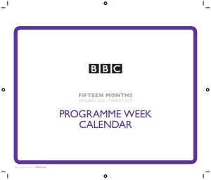 Program Week Calendar Template