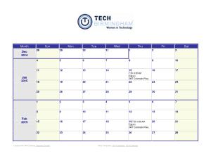 Sample Weekly Monthbase Calendar Template