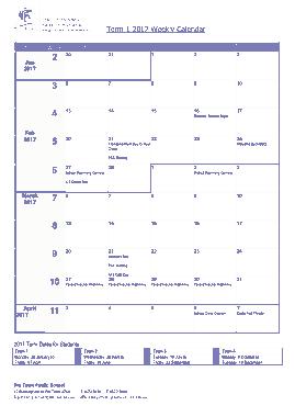 Weekly Meeting Calendar Template