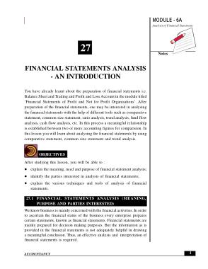 Financial Analysis Statement Analysis Template