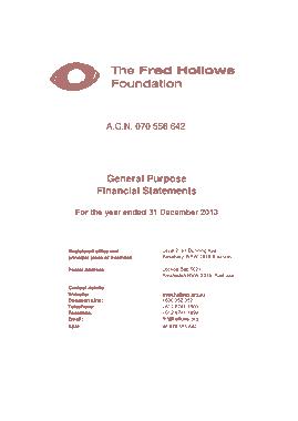 General Purpose Financial Statement Template