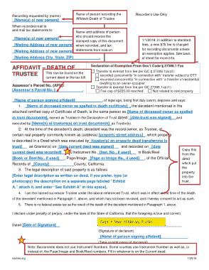 Free Download PDF Books, Formal Affidavit Death of Trustee Template