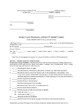 Free Download PDF Books, Family Law Financial Affidavit Form Template