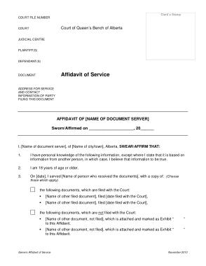 Free Download PDF Books, Affidavit of Service Sample Template