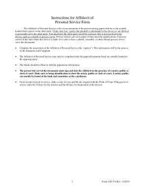 Free Download PDF Books, Printable Affidavit of Personal Service Template