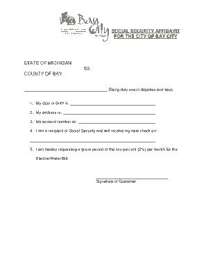 Free Download PDF Books, Social Security Affidavit Template