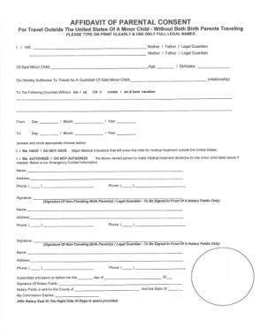 Free Download PDF Books, Affidavit for Parental Consent Form Template
