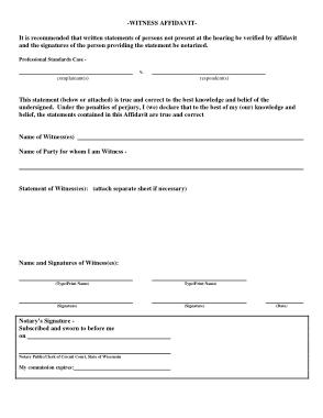 Free Download PDF Books, Affidavit of Witness Sample Template