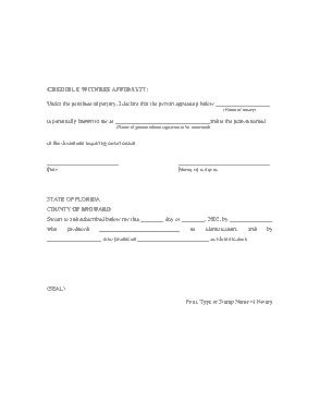 Free Download PDF Books, Credible Witness Affidavit Form Template