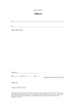 Free Download PDF Books, Affidavit Sworn Statement Form Template